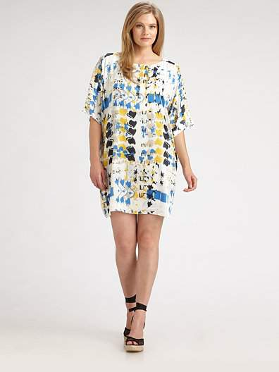 TBags Los Angeles Plus Size Abstract Print Shift at Saks Fifth Avenue