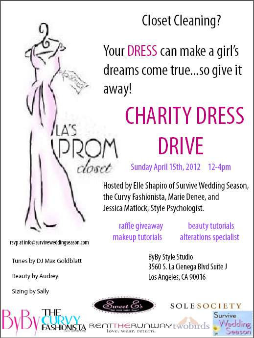 Join me at the Charity Prom Dress Drive this Sunday!