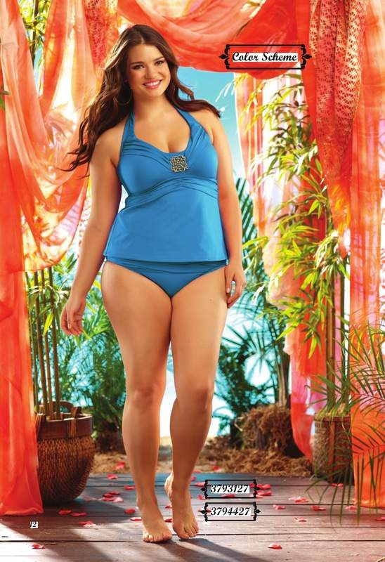 Plus Size Swim Wear Brand: Becca Etc featuring Tara Lynn