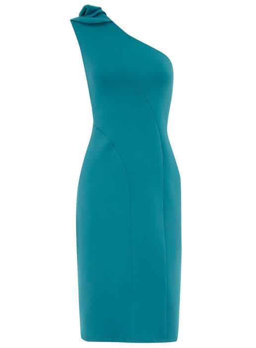 Dorothy Perkins Aqua One Shoulder Dress