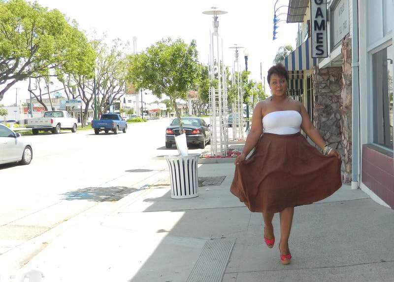 Land's End Show Us Your Style with the Linen Skirt
