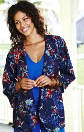 JD Williams Plus Size Kimono Jacket