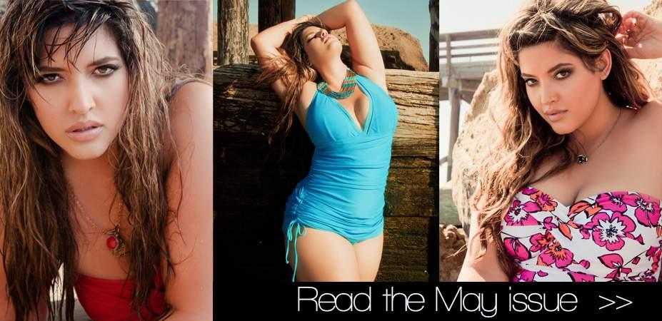 Plus Model Magazine May Issue: Plus Size Swim Issue