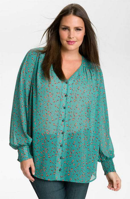 Nordstrom Anniversary Sale- Encore Plus Sizes:Bellatrix sheer floral top