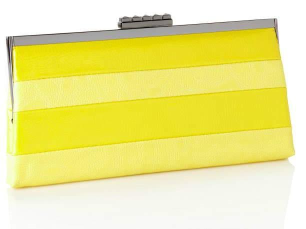 label RACHEL ROY Stripe Frame Clutch