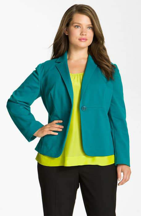 Nordstrom Anniversary Sale- Encore Plus Sizes: Sejour Ponte Knit Blazer