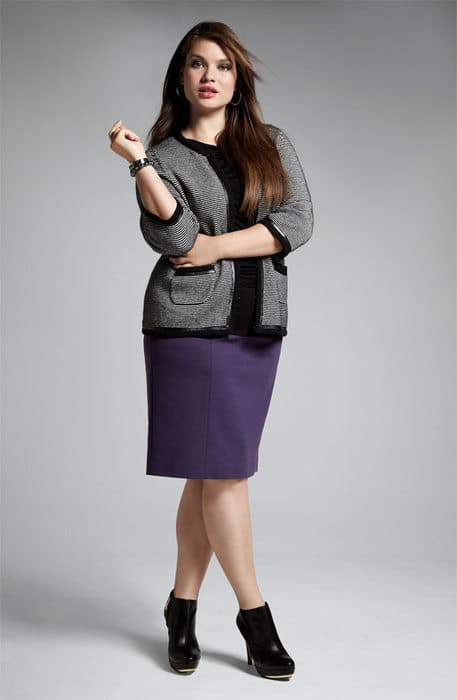 Nordstrom Anniversary Sale- Encore Plus Sizes: Sejour Ponte Knit Skirt