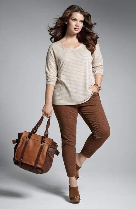 Nordstrom Anniversary Sale- Encore Plus Sizes: Splendid Metallic Top and NYDJ Alisha Print Jean