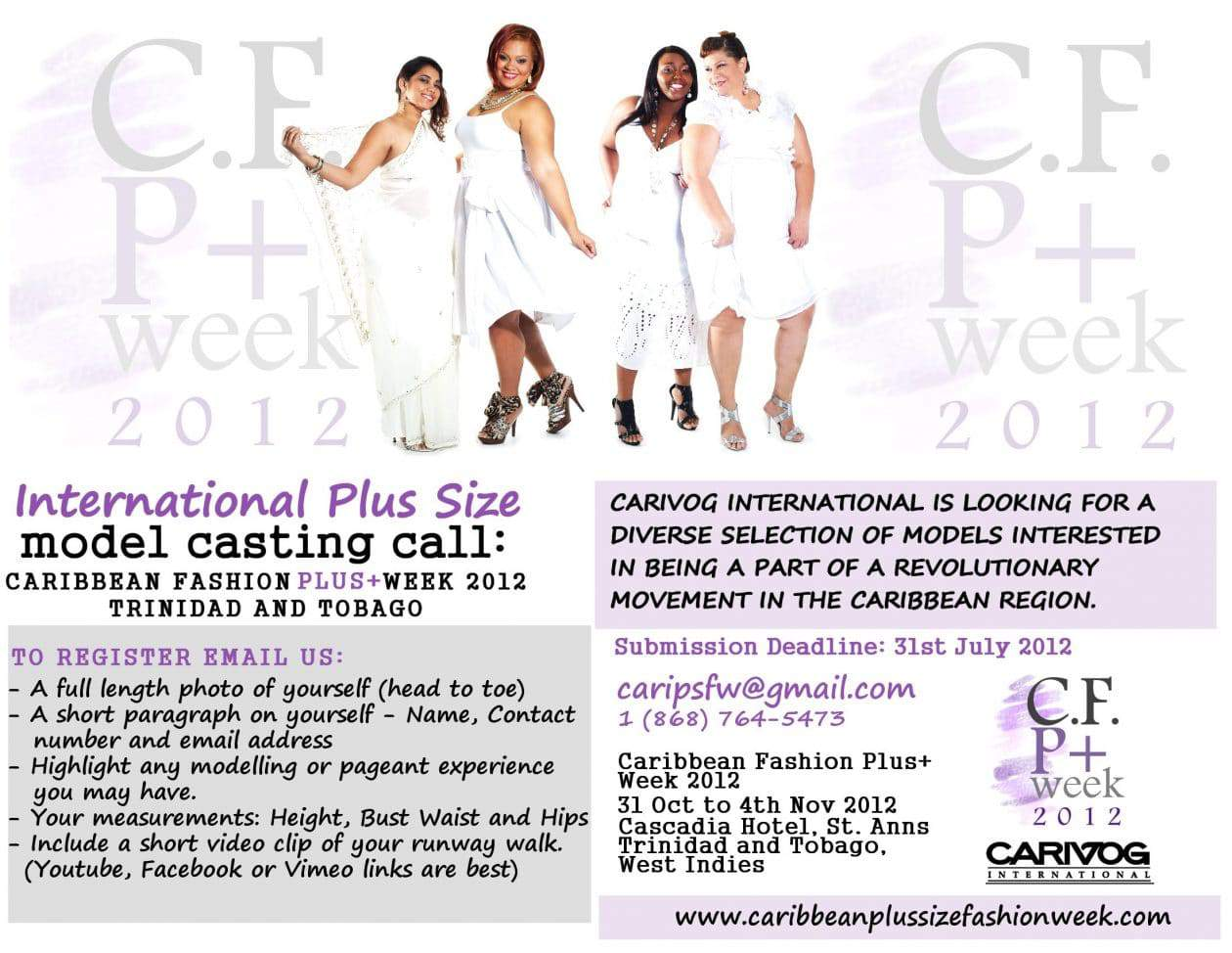 Caribbean Fashion Plus Week  International Model Call