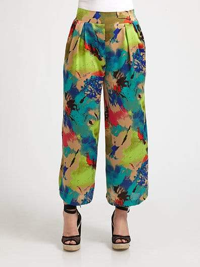 TBags Los Angeles Plus Size Printed Palazzo Pants