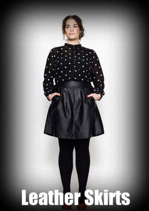 Fall 2012 Trends for Plus Size Fashion: Leather Skirts
