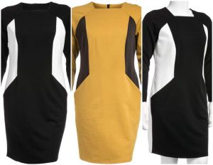 Plus Size Manon Baptiste Color Blocked Dress at Navabi