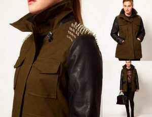 Gotta Have It: Asos Curve Studded Mixed Media Jacket