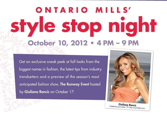 Ontario Mills Style Stop Fashion Event