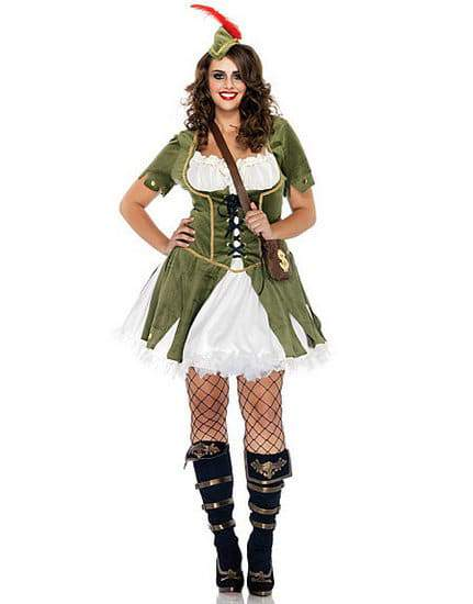 Plus Size Female Robin Hood Costume