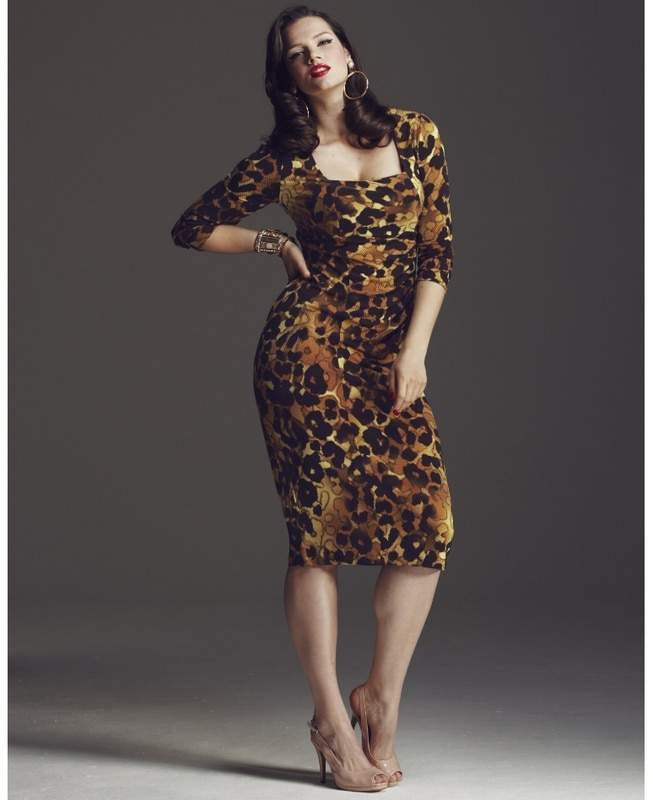 Anna Scholz for Simply Be Side Pleat Dress