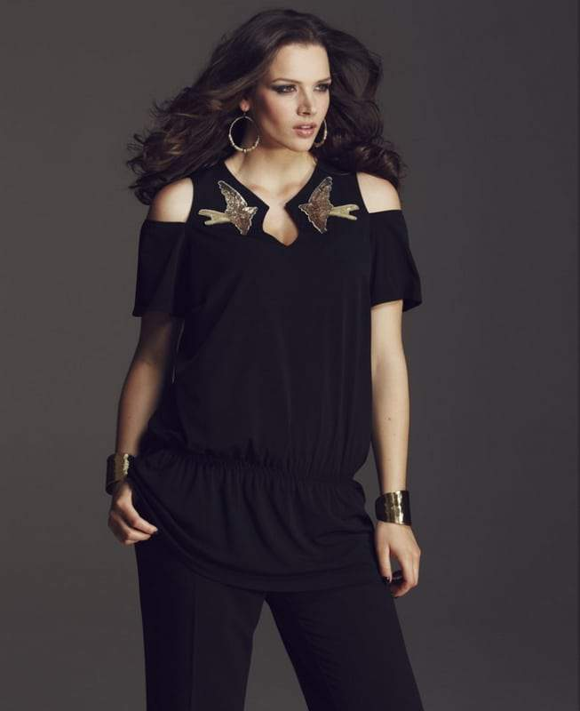 Anna Scholz for SImply Be Cut Out Shoulder Top