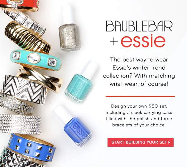 Accessorize to Maximize: Bauble Bar and Essie Collab Just in Time for the Holidays