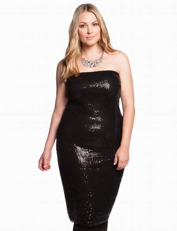 Eloquii Sequin Tube Dress