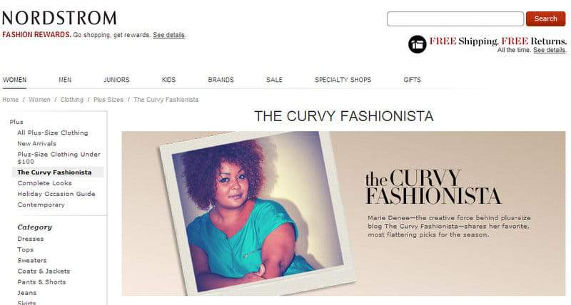 Nordstrom and The Curvy Fashionista