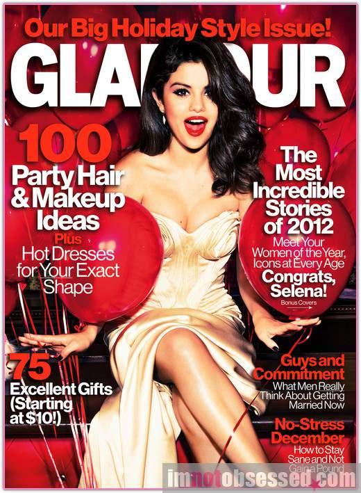 selena gomez glamour december 2012 cover