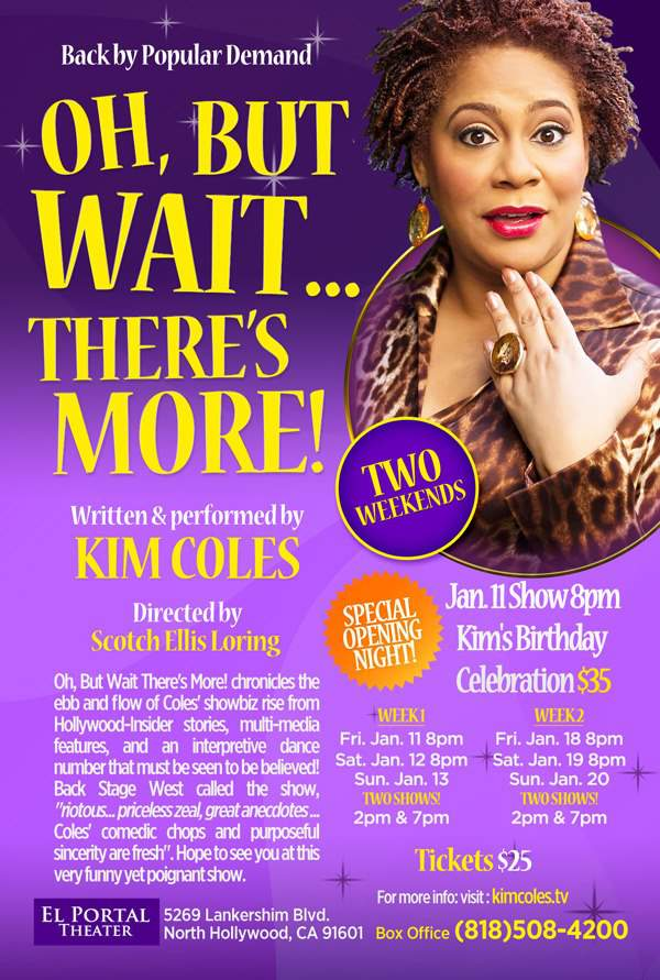 Save the Date: Kim Coles' One Woman Show!!!