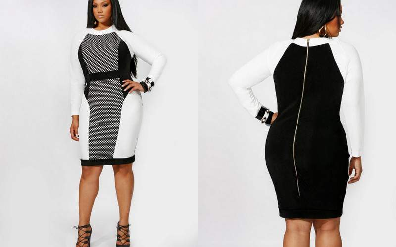 Monif C Plus Sizes Gives Us High Style in Black and White