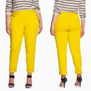 Eloquii Plus Size Yellow Chino Pants