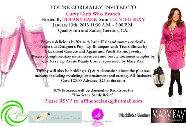"#LA Join Big Sexy's Tiffany Bank for ""Curvy Girls Who Brunch"""