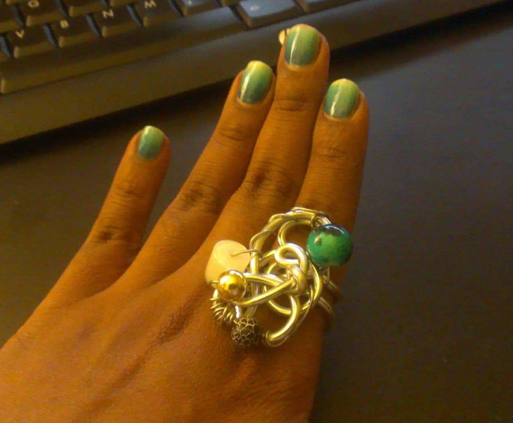 Plus size handmade rings Mint Jelly Jewels