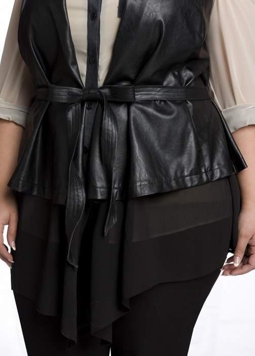 Ashley Stewart Leather Vest