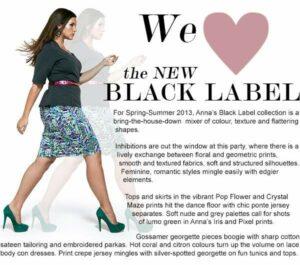 Plus size fashion designer: Anna Scholz Black Label Spring 2013