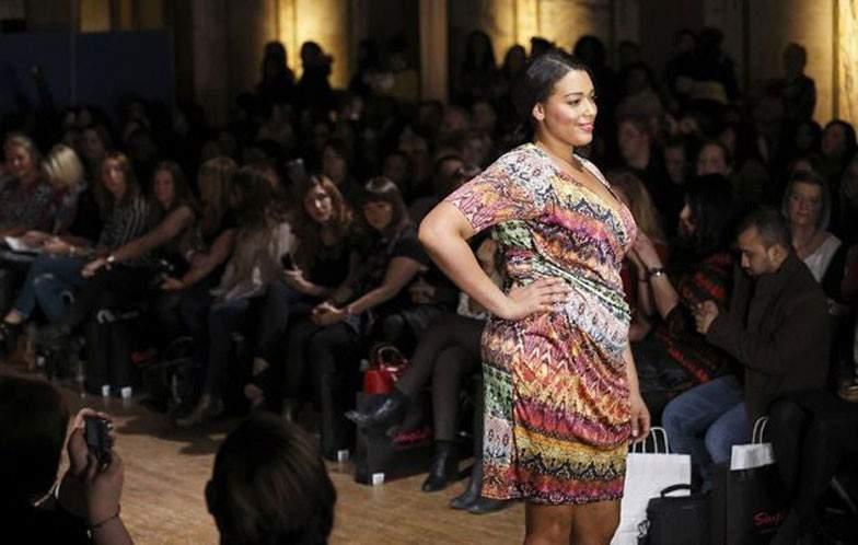 Anna Sholz at London plus plus size fashion week