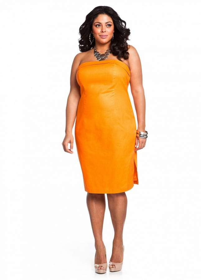 4369e592078 Gotta Have It: Coated Linen Strapless from Ashley Stewart   The ...
