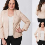 Lane Bryant Lane Collection Leather Blazer
