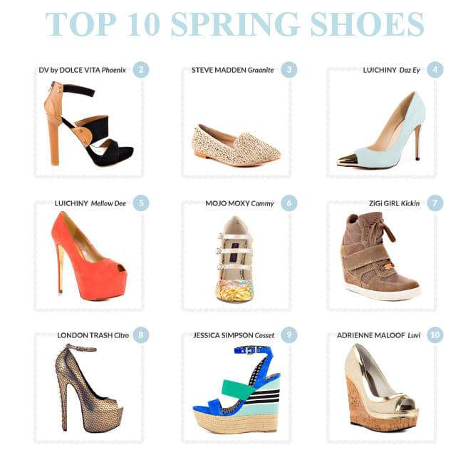 Heels.com Top Ten Spring Picks