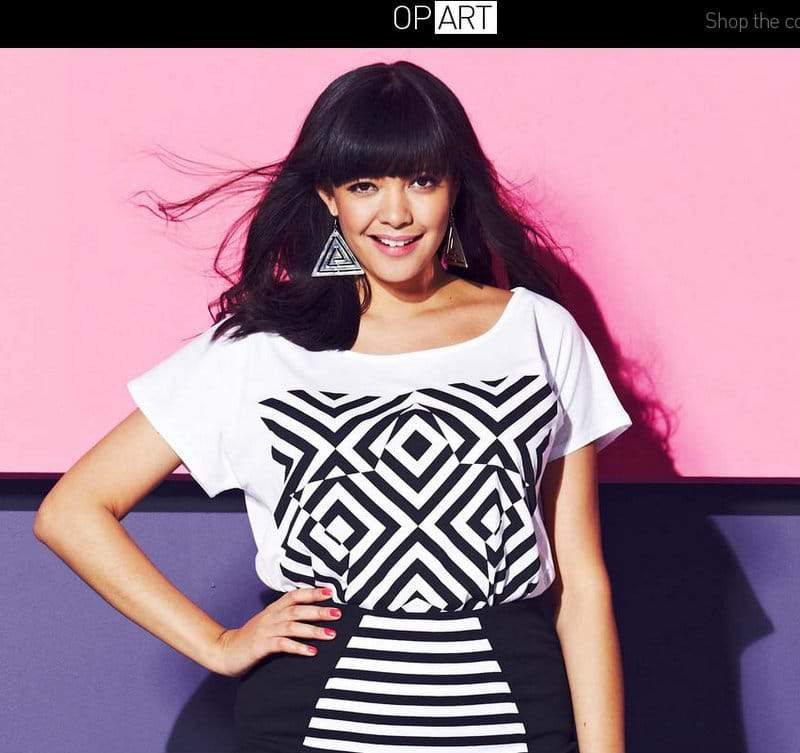 Simply Be Serves Us the Graphic Trend with its Op Art Look Book
