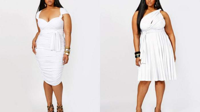 Plus Size Little White Dresses