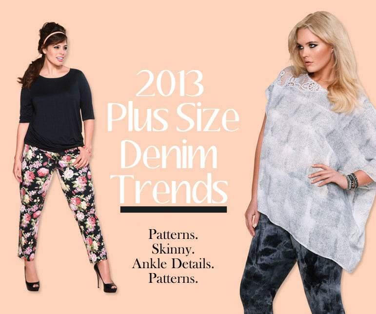 Addition Elle Plus Size Denim Spring 2013 Trends
