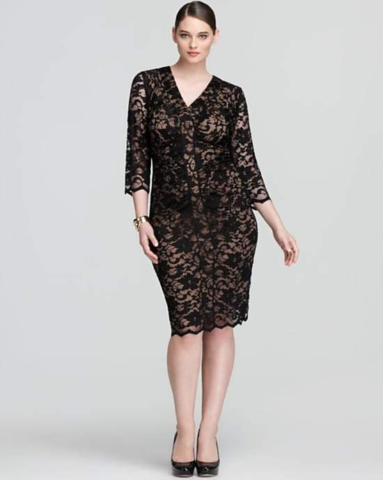 Plus SIze Designer Anna Scholz Lace Dress from Bloomingdales