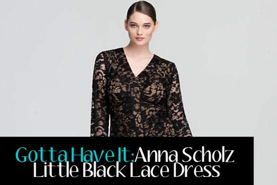 Gotta Have it: Anna Scholz Little Black Lace Dress