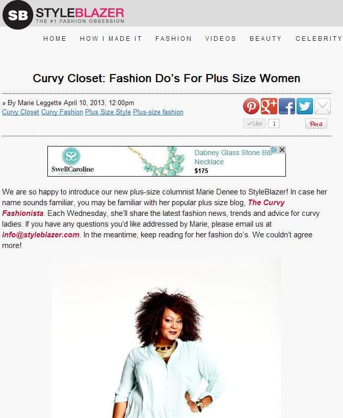 Marie Denee for StyleBlazer Curvy Closet