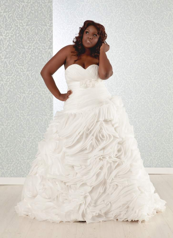 The plus size bride a teaser from pmm the curvy fashionista for Wedding dress for apple shaped plus size