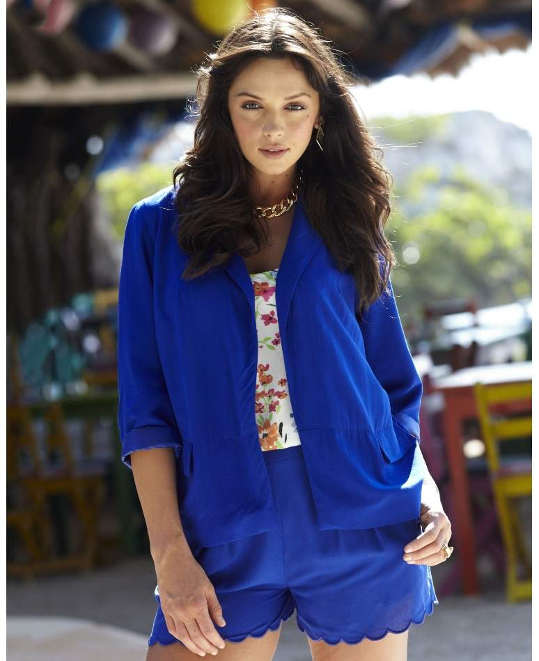 Simply Be Plus Size Royal Blue Shorts Suit