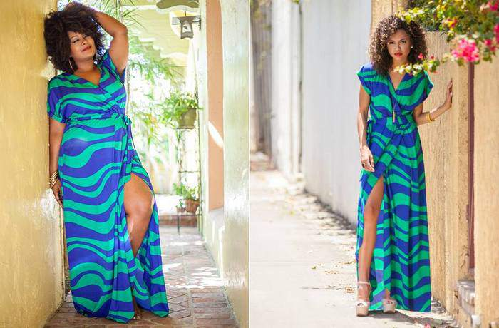 Shoxie Collection in Plus sizes with Marie Denee as model