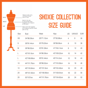 Shoxie Collection Size Chart