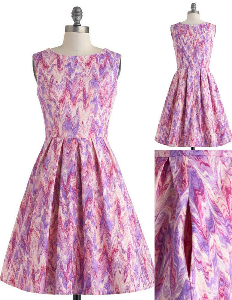 Chalk of the town dress by Modcloth in Plus Sizes