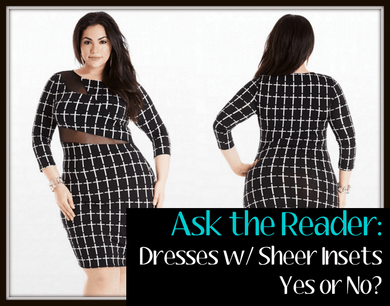 Ask the reader: Plus Size sheer Mesh detail dresses
