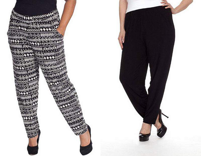 Plus Moda Slouchy Pants