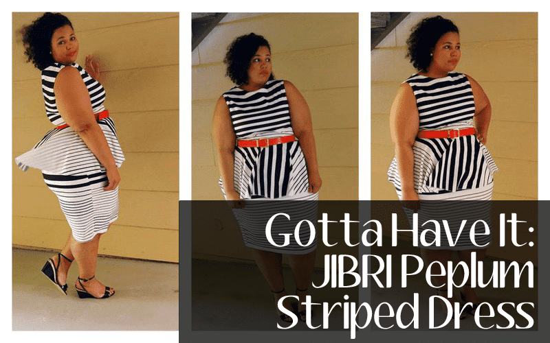 Gotta Have It: Jibri Peplum Black and White Dress